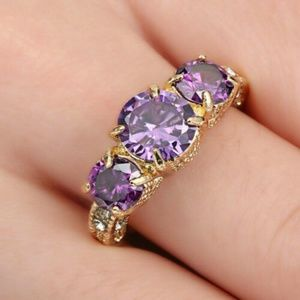 5/$25 Purple Amethyst 10KT Gold Filled Ring